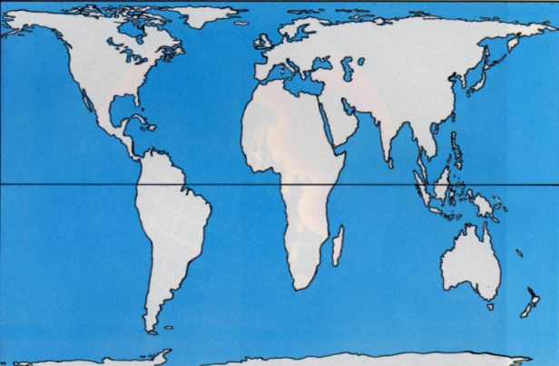Cartina Muta Mondo Grande.Carta Geografica Di Peters