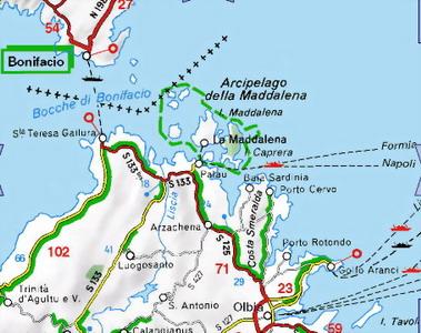 Palau Sardegna Cartina.Sardegna Gallura Santa Teresa Maddalena Palau Costa Smeralda